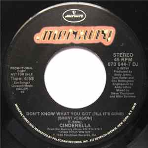 Cinderella - Don't Know What You Got (Till It's Gone) FLAC
